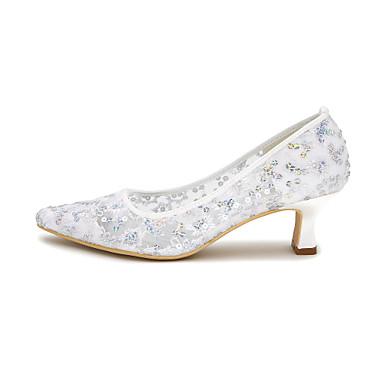 Tulle 06413920 Bout Chaussures Printemps Chaussures clair Eté de Basique Femme Ivoire Mariage Bleu mariage Escarpin Rose carré 5nzAxwWW