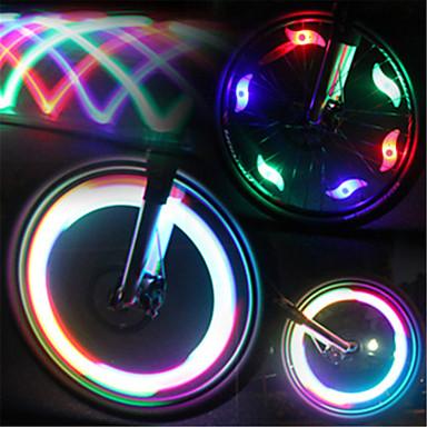 Radlichter / Ventilkappen Blinklichter / Rad beleuchtet LED Radlichter Radsport Wasserfest, LED-Lampe, Mehrere Modi Batterie Radsport / IPX-4