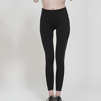 calças de yoga Calças Respirável Compressão Natural Com Elástico Moda Esportiva Preto Mulheres Ioga