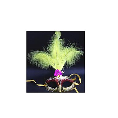 Muovi Wedding Kunniamerkit-1Piece / Set Naamio Halloween SatuteemaPunainen / Vaaleanpunainen / Sininen / Kullanvärinen / Fuksia /