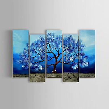 Handgeschilderde Abstract / Landschap / Bloemenmotief/Botanisch / Abstracte landschappen Olie schilderijen,Modern / Klassiek / Pastoraal