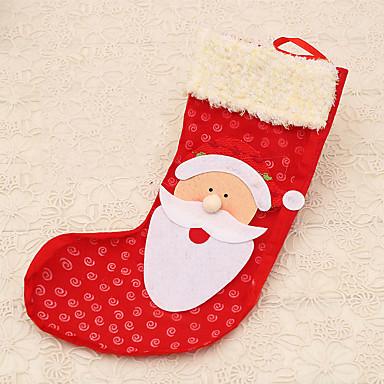 1pc rød santa claus strømpe taske træ seng hængende dekoration udendørs leverancer udefra julegave