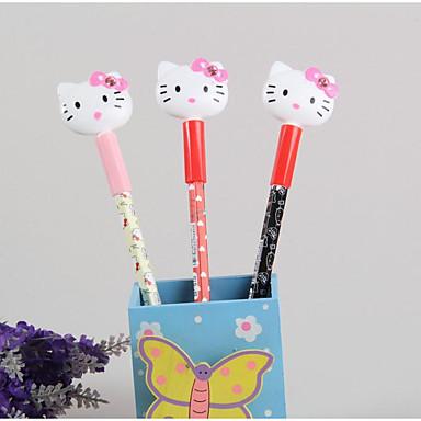 Kuglepen Pen Gel Penne Pen, Plast Sort Blæk Farver For Skoleartikler Kontorartikler Pakke med