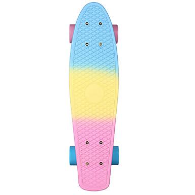 22 tommer (ca. 56cm) Cruisers Skateboard PP (Polypropen) Abec-7 Regnbue Professjonell Blå+Rosa