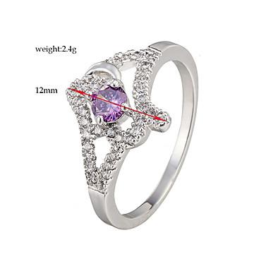Ringe Mode Bryllup / Party Smykker Legering / Zirkonium Dame Statement Ringe 1pc,6 / 7 / 8 / 9 / 10 Sølv