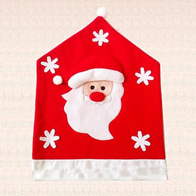 1pc dejlige jul santa claus snefnug stol dækning dekoration halv stereoskopisk stol hat hjem forsyninger