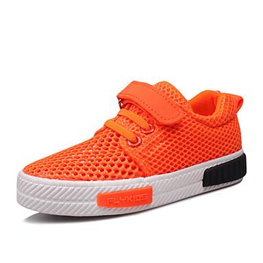 Loafers og Slip-ons-Tyl-Komfort-Piger-Sort Orange Oliven-Udendørs Fritid Sport-Flad hæl