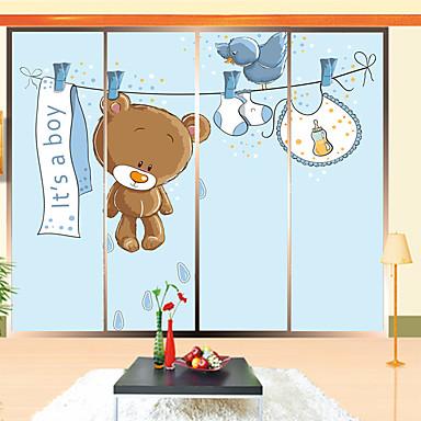 Puut/lehdet Nykyaikainen Ikkunatarra, PVC/Vinyl materiaali ikkuna Decoration