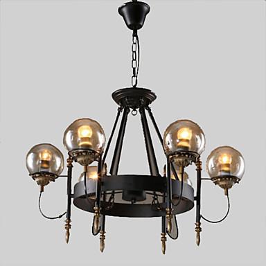 6-Light Chandelier Uplight - Mini Style, 110-120V / 220-240V, Warm White, Bulb Not Included / 10-15㎡ / E26 / E27