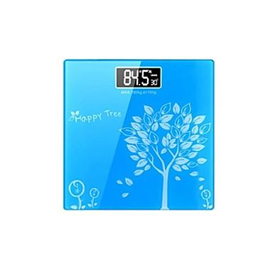 elektroniske vægte menneskelige skala hhealth slank firkantet firkantet krop skala (sælges blå)