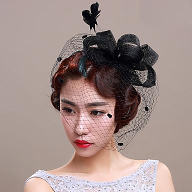 tulle netto fascinators birdcage slør headpiece klassisk feminin stil