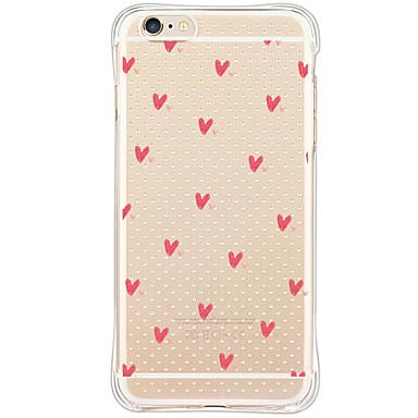 hoesje Voor Apple iPhone X iPhone 8 iPhone 6 iPhone 6 Plus Stofbestendig Schokbestendig Patroon Achterkant Hart Zacht TPU voor iPhone X
