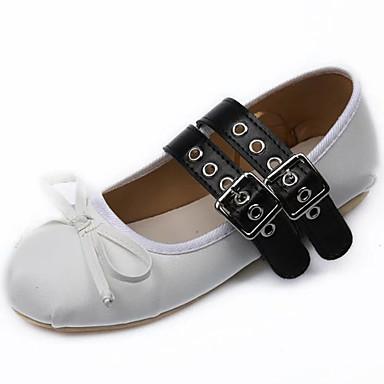 Dames Ballet Latin Kunstleer Platte schoenen Buitenshuis Oefenen Siernagel Veters Platte hak Wit Zwart Bruin Niet aanpasbaar