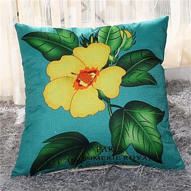 pçs Linho Fronha, Floral Casual Regional
