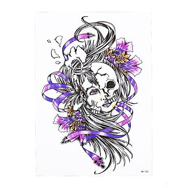 1 Tatuointitarrat Muut Non Toxic / Kuvio / Alaselkä / WaterproofNaisten / Miesten / Aikuinen Flash Tattoo väliaikaiset tatuoinnit