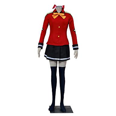 Inspireret af Eventyr Winry Anime Cosplay Kostumer Cosplay Kostumer Farveblok Langærmet Frakke Trøje Nederdel Hovedstykke Til Dame