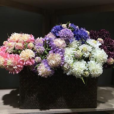 1 1 haara Polyesteri / Muovi Päivänkakkarat Pöytäkukka Keinotekoinen Flowers 13.7inch/35cm