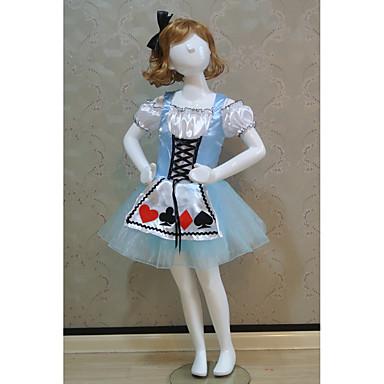 Fantasias Vestidos Crianças Apresentação Poliéster Plissado 1 Peça Manga Curta Natural Vestido