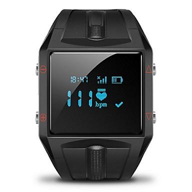 HR Smart armbånd iOS Android Timer Touch-skærm Pulsmåler Vandafvisende Brændte kalorier Sundhedspleje Vækkeur Lang Standby Påførelig