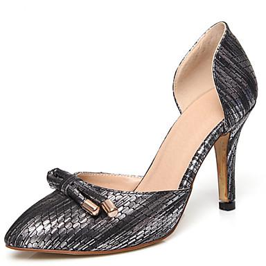 Damen Schuhe PU Frühling Sommer Herbst High Heels Walking Stöckelabsatz Mit Schleife Für Normal Kleid Party & Festivität Weiß Schwarz Rosa