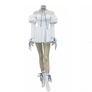 Inspired by Chobits Chii Anime Cosplay Costumes Cosplay Suits Dresses Solid Long Sleeve Dress Tie For Female
