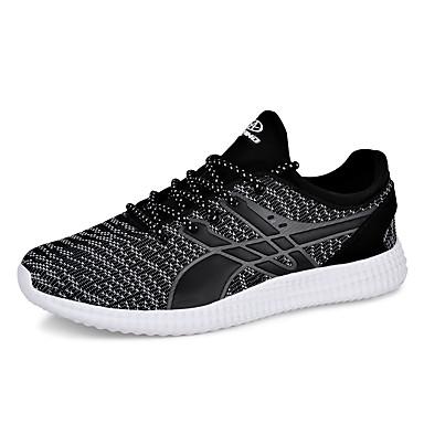 Sneakers-Tyl-Komfort-Herre-Sort Blå-Udendørs Fritid Sport-Flad hæl