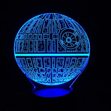 Touch dimmen 3d führte Nachtlicht 7colorful Dekoration Atmosphäre Lampe Neuheit Beleuchtung Licht