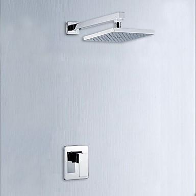 Moderne Modern Wandmontage Handdusche inklusive Keramisches Ventil Einhand Ein Loch Chrom, Duscharmaturen Badewannenarmaturen Waschbecken