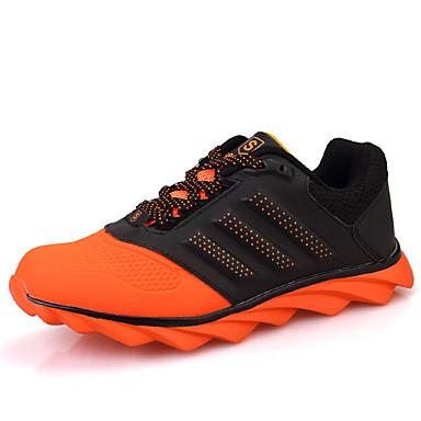 Sneakers-Tyl-Komfort-Herre-Sort Grøn Orange-Fritid-Flad hæl