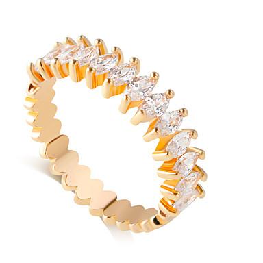 Dame Band Ring - Simuleret diamant, Legering Dråbe Mode 6 / 7 / 8 / 9 Sølv / Gylden Til Bryllup