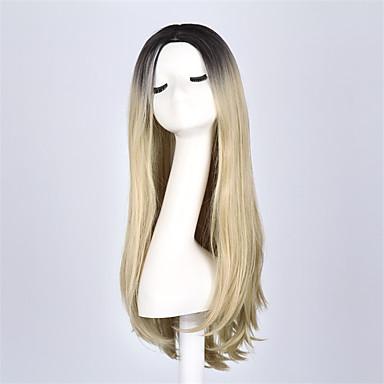 stjerne mode lang bølget ombre paryk to tone ombre sort til blonde hår parykker til kvinder anime hår cosplay paryk
