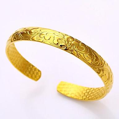 Miesten Naisten Pariskuntien Tyttöjen´ Pojat Rannerenkaat Muoti Gold Plated 24K Plated Gold Metalliseos Circle Shape Korut VartenHäät