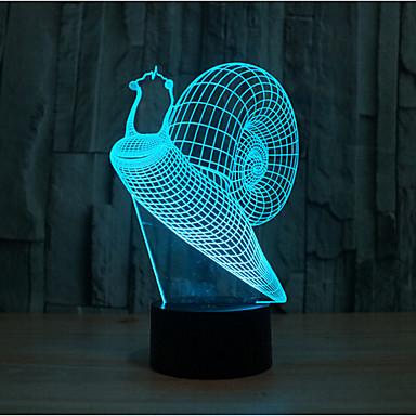 slak aanraking dimmen 3D LED 's nachts licht 7colorful decoratie sfeer lamp nieuwigheid verlichting kerstverlichting