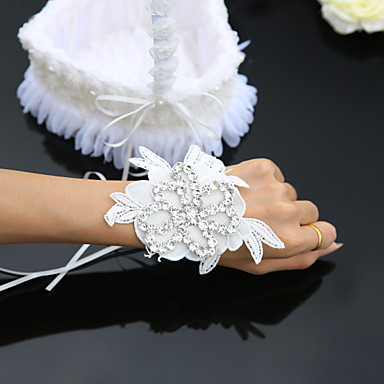Brudebuketter Håndbundet Roser / Liljer Håndledskorsage Bryllup / Fest & Aften Satin / Tyl / Blonde 2.36 tommer (6cm)