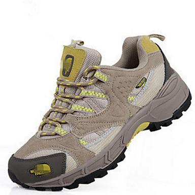 Damen Schuhe Leder Winter Frühling Komfort Sneakers Wandern Flacher Absatz Schnürsenkel für Draussen Purpur Gelb Rot