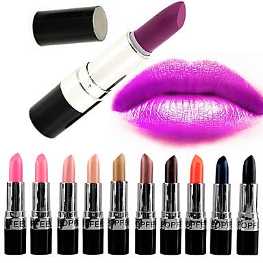 Læbestifter Tør Mat Stift Glitter glans (gloss) Farvet glans Dekning Længerevarende Vandtæt Naturlig Åndbart Tilgængelig Farve PopFeel
