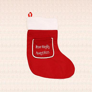 1pc Weihnachten Strumpf für Kind rot Tasche Socke Wanddekoration Süßigkeiten Beutelverzierung Festival
