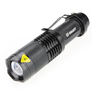 LED taskulamput Laser 1000 lm 3 Tila - LED Zoomable Mini Vedenkestävä Telttailu/Retkely/Luolailu Päivittäiskäyttöön Musta