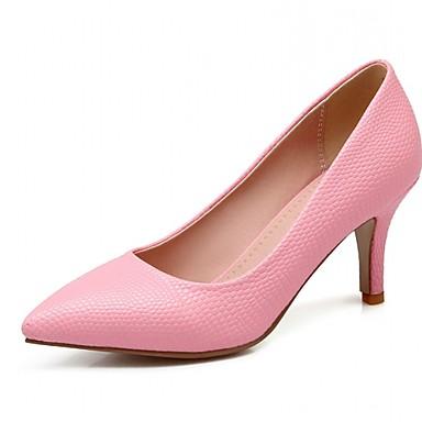 Feminino Sapatos Sintético Couro Envernizado Courino Primavera Verão Outono Inovador Saltos Caminhada Salto Agulha Poa Para Casamento