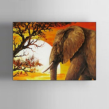 Maalattu Maisema / Eläin / Fantasy / Abstraktit maisemakuvat öljymaalauksia,Pastoraali / European Style / Moderni / Classic 1 paneeli