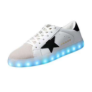 Heren Sneakers Comfortabel Oplichtende schoenen PU Lente Zomer Herfst Causaal Comfortabel Oplichtende schoenen Platte hak Zwart Groen
