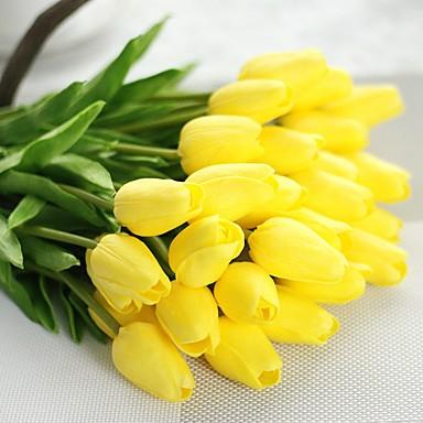 Künstliche Blumen 1 Ast Pastoralen Stil Tulpen Tisch-Blumen