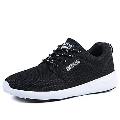 Sneakers-Tyl-Komfort-Herre-Sort Blå Gul Rød Hvid-Udendørs Fritid Sport-Flad hæl