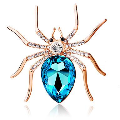 Mulheres Broches - Cristal Personalizada, Fashion Broche Azul Escuro / Roxo / Azul Claro Para Festa / Diário / Casual