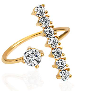 Dame Statement Ring - Mode 6 / 7 / 8 Sølv / Gylden / Guld / Pink Til Bryllup / Fest