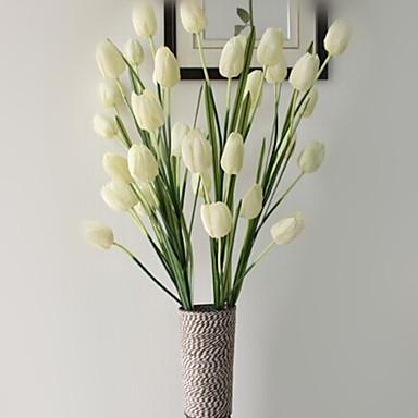 Flores artificiais 1 Ramo Estilo Moderno Tulipas Flor de Mesa