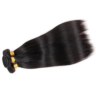 Menneskehår Vevet Brasiliansk hår Rett 3 deler hår vever