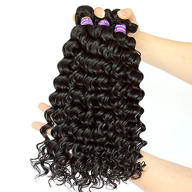Az emberi haj sző Maláj haj Ravno 12 hónap 3 darab haj sző