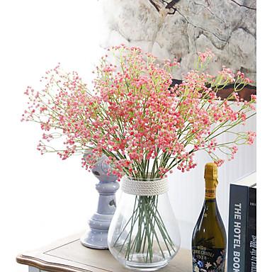 1 1 Tak Polyester / Kunststof Gipskruid / Overige Bloemen voor op de grond Kunstbloemen 23.62inch/60cm