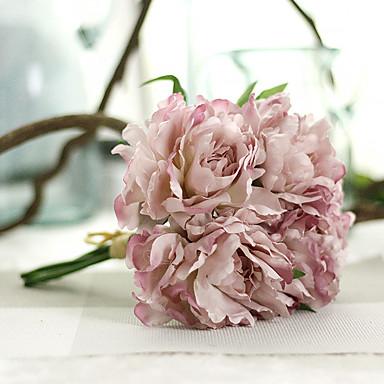 Künstliche Blumen 1 Ast Pastoralen Stil Pfingstrosen Tisch-Blumen